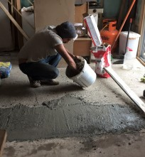 Abraham leveling kitchen floor