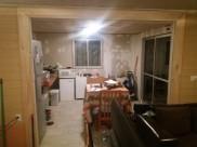 all floors tiled & kitchen taking shape